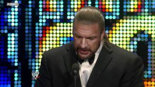 Triple H inducts his best friend Shawn Michaels into the