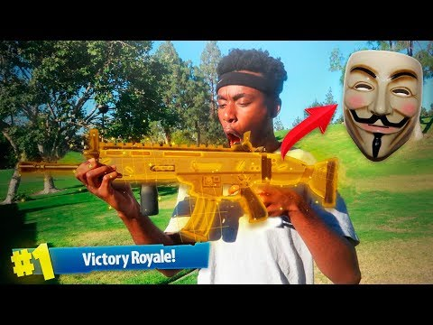 A FORTNITE HACKER SENT ME A LEGENDARY SCAR IN REAL LIFE WEIRDEST DUOS VICTORY EVER