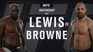 UFC Fight Night 105: Lewis vs. Browne (full fight)