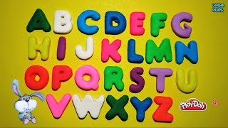 Play Doh Learn the Alphabet  | Funny Learning ABC Party | ABC Song with Play Dough