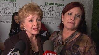 Debbie Reynolds praises Carrie Fisher on red carpet (2010)