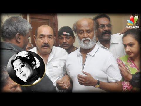 Manorama treated both film and drama artistes as equal : Rajini, Parthiban | Aachi Death