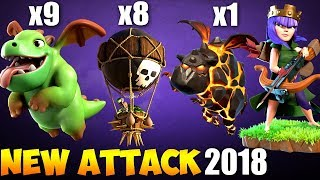 Baby Dragon + Lava: BABYLALOON NEW TH9 STRONG WAR ATTACK STRATEGY 2018 | Clash of Clans