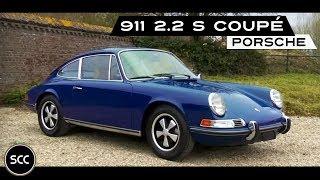 PORSCHE 911 2.2 S Coupé 1970 - Full test drive in top gear - Engine sound | SCC TV