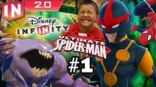 Spiderman Play Set - Part 1: Disney Infinity 2.0 (Dad & Son Commentary)
