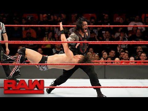 The Miz vs. Roman Reigns Intercontinental Championship Match Raw Nov. 20 2017