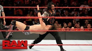 The Miz vs. Roman Reigns - Intercontinental Championship Match: Raw, Nov. 20, 2017