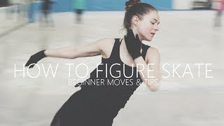How To Figure Skate ❤ Beginner Moves & Tips
