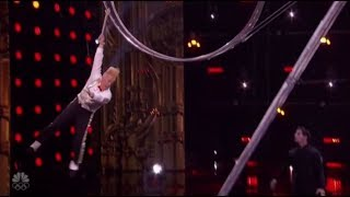 Bello Nock: Simon Gives Daredevil a Second Chance and He SMASHES It!! America's Got Talent 2017