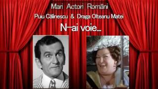 N-ai voie... Puiu Calinescu & Draga Olteanu Matei