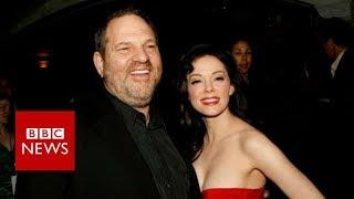 Rose McGowan accuses Harvey Weinstein of Rape - BBC News