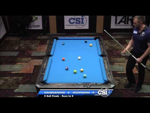 2014 CSI USBTC 9 Ball Final Shane Van Boening vs Thorsten Hohmann