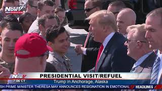 PRESIDENTIAL VISIT: Trump stops in Anchorage, Alaska to visit troops and refuel