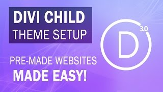 Divi Child Themes: How To Install Divi 3.0 Child Themes With Wordpress - MUST WATCH!