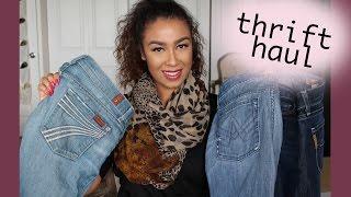 Thrift Haul  2016 | Try On | Follow Me Thrifting | Brand Name / Designer