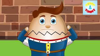 Humpty Dumpty Sat On A Wall | Kindergarten Nursery Rhymes | Preschool Poems For Kids