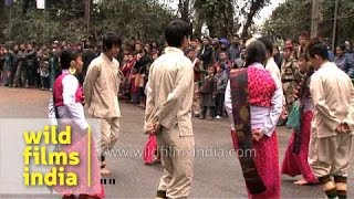 Limbu dance from Nepal by young girls and boys