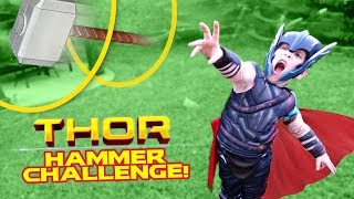 Thor Ragnarok Movie Gear Test & Hammer Toss Challenge for KIDS by KIDCITY