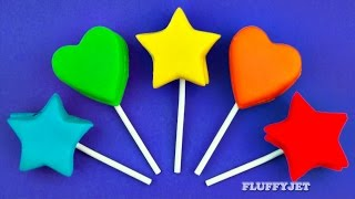 Learn Colors with Play Doh Hearts and Stars For Kids | Surprise Toys Frozen Shopkins Minions