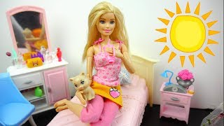 الروتين الصباحي لباربي ألعاب بنات Barbie Morning Routine