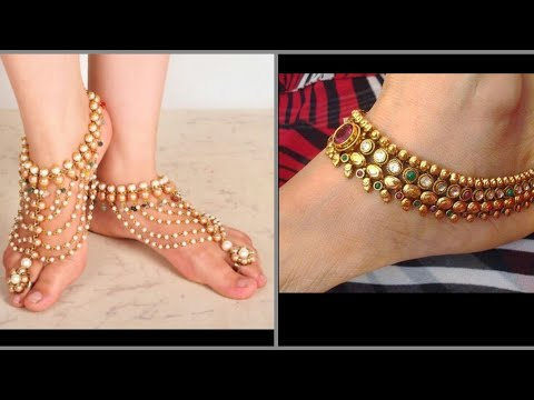 New Designs Of Gold Anklets For Girls You Need To Try