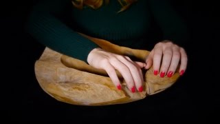 Binaural ASMR Wooden Bowl | Sounds Only, No Talking | Tapping Scratching Rubbing