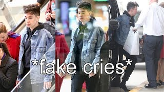 james charles FAKED paparazzi at the airport?