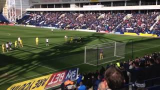 Preston North End 1-1 MK Dons 2016 Joe Garner Penalty miss