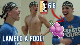 LaMelo Ball Practices With NEW JBA TEAM! DuRag Melo BRINGS OUT THE JELLY! 6'6 Confirmed