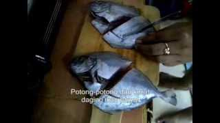 Cara Membuat Ikan Bawal Goreng - How to Make Fried Pomfret