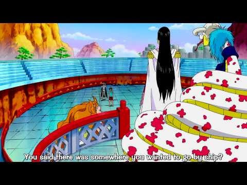 One Piece - Boa Hancock gives Luffy two options and boat or his friends