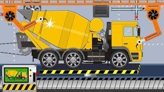 New Concrete Mixer Truck   Toy Factory - video for kids   Nowa Ciężarówka Betoniarka z Fabryki
