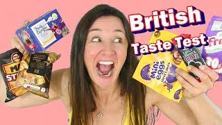 British Sweets and Crisps Taste Test