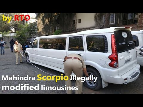 Xxx Mp4 Mahindra Scorpio Illegally Modified Limousines Seized By RTO CAR CARE TIPS 3gp Sex