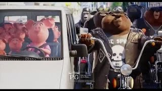 SING Moive Trailer Mini Spot #1 - Eye Of The Tiger It Here With Bear Gangster