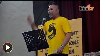 'Jamal, ludah tangan saya dulu sebelum nak ludah Mahathir'