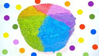Learn Colors with Play-Doh  Rainbow Glitter Cake, Play doh toys for kids