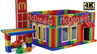 Most Creative - Build Mcdonald's Restaurants Using Magnetic Balls (Satisfying) | Magnet World Series