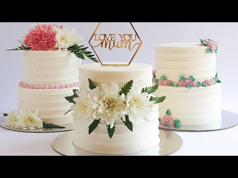 3 GORGEOUS MINI two tier Mothers Day CAKES Tutorial Rosie s Dessert Spot