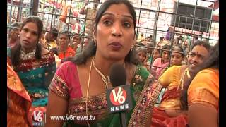 Hijras Active Participation In Sree Rama Kalyanam At Vemulawada || V6 news