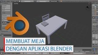 Membuat meja kursi dan buku dengan aplikasi Blender