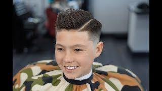 Barber Tutorial : KIDS COMB OVER! transformation