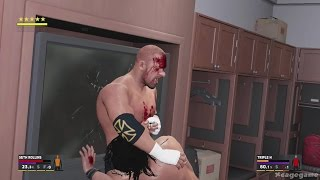 WWE 2K17 Gameplay - Seth Rollins vs Triple H - Falls Count Anywhere Match