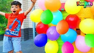 Jason Plays with Toys Magic and Colors Balloons!