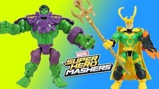 Marvel Super Hero Mashers Hulk vs. Loki Mash Pack & Ultron's Disaster Ray!