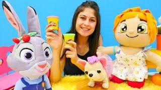 Ayşe #Zootropolis Judy 🐰 için yemek yapıyor. Play Doh #hamuroyunları ve eğitici çocuk videosu!
