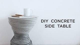 DIY Concrete Side Table | Concrete Casting Experiments