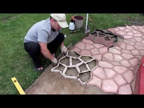 ЧАСТЬ 1 Садовая дорожка тротуар� ая плитка своими руками PART 1 Handmade garden walkway
