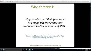 Managing Risk for Opportunity and Greater Impact