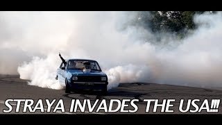12.5 Minutes of Australian Hoonigans SHREDDING tires in the USA!!!!